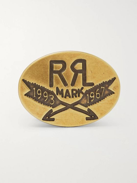 RRL Logo-Detailed Burnished Gold-Tone Pin