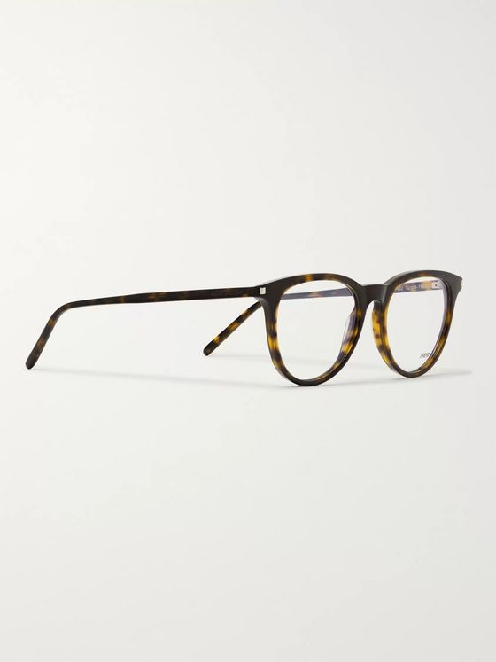 SAINT LAURENT D-Frame Tortoiseshell Acetate Optical Glasses