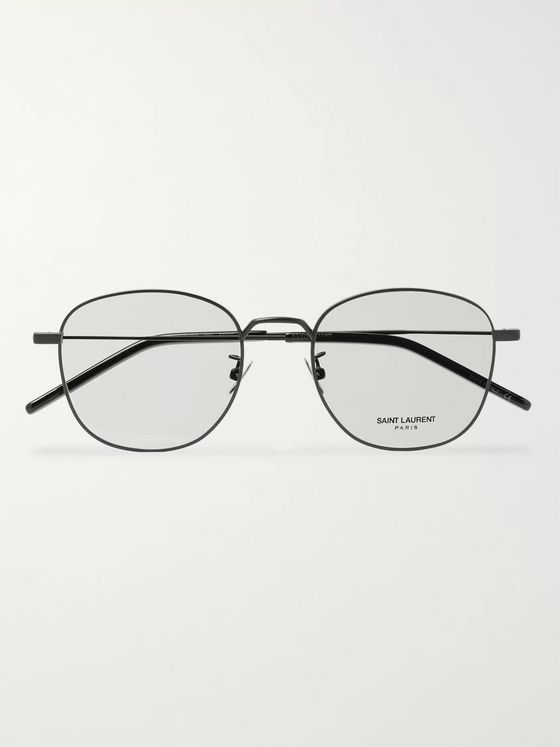 SAINT LAURENT Round-Frame Metal Optical Glasses