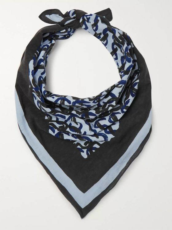 Sunspel + 45R Printed Cotton Bandana