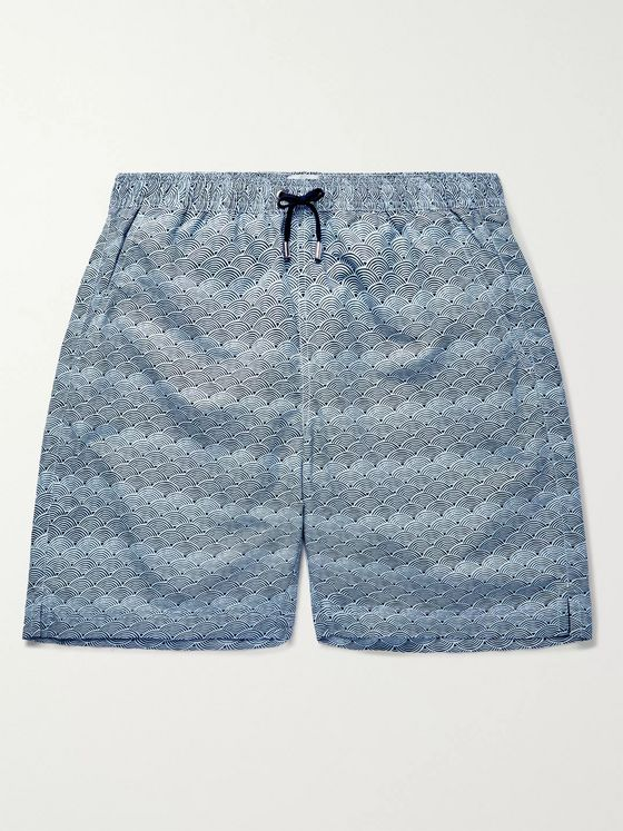 Sunspel Long-Length Printed Swim Shorts