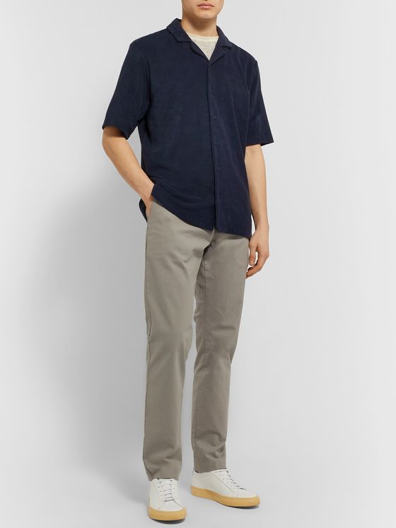 Sunspel Camp-Collar Organic Cotton-Terry Shirt