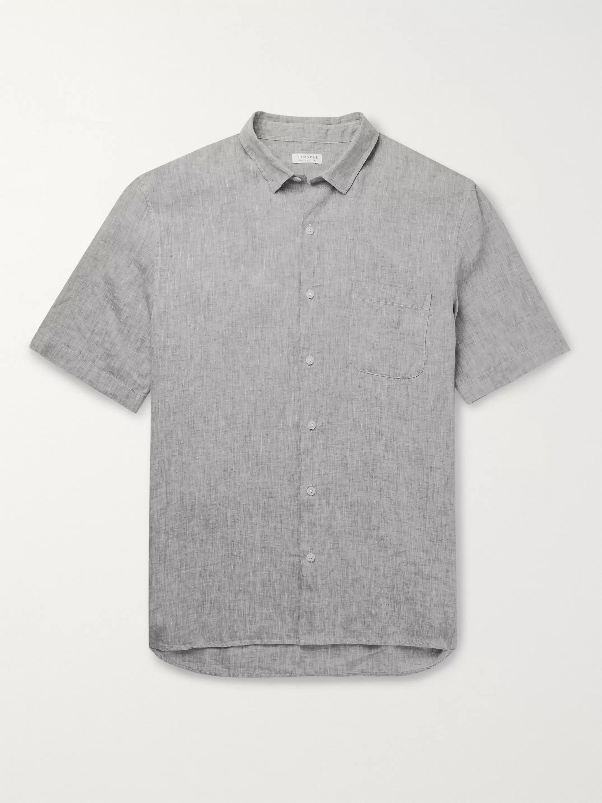Sunspel Mélange Linen Shirt