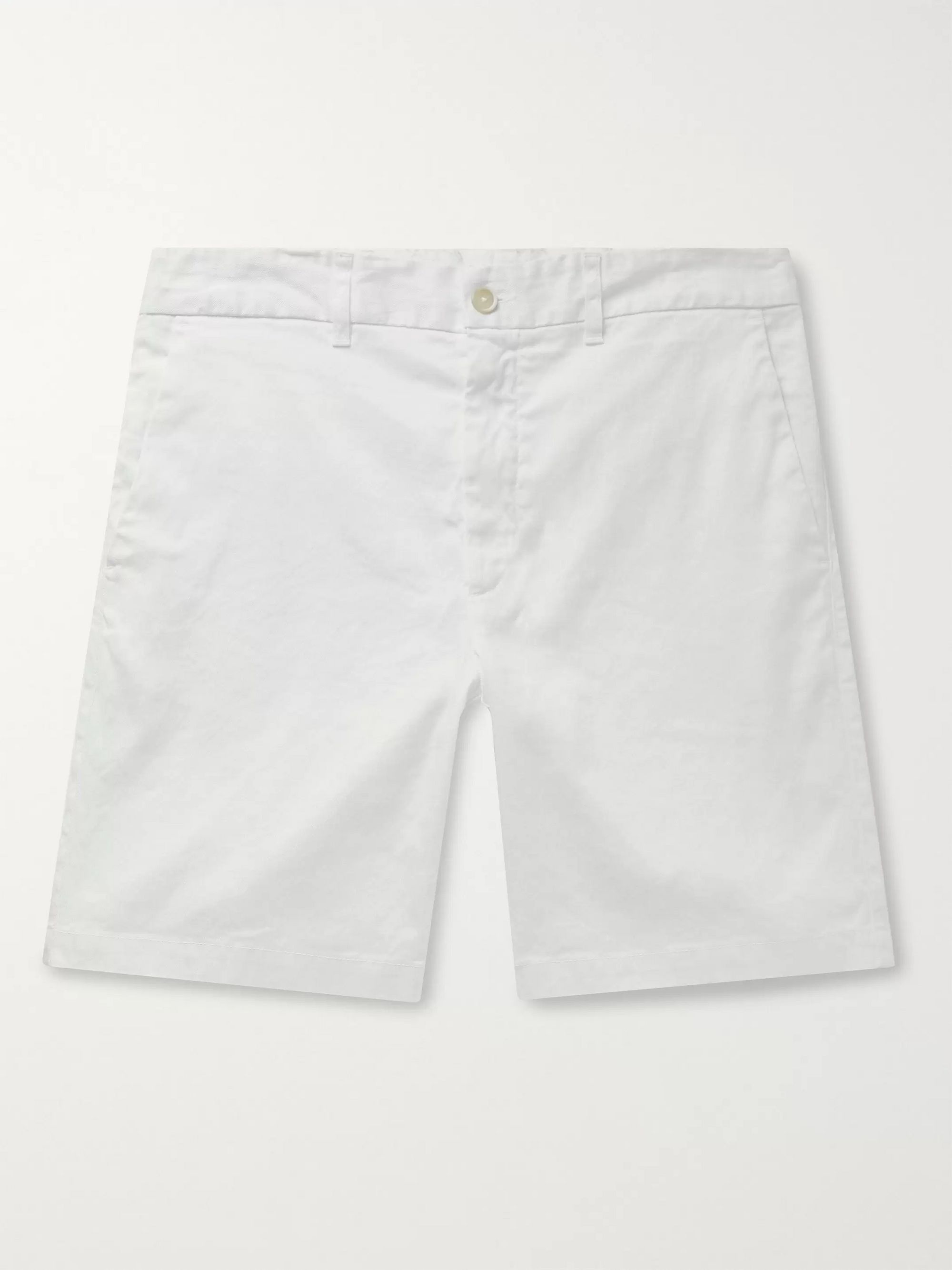 120% Slim-Fit Garment-Dyed Stretch Linen and Cotton-Blend Twill Shorts