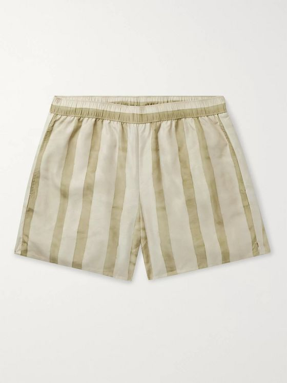 Acne Studios Slim-Fit Mid-Length Striped Swim Shorts