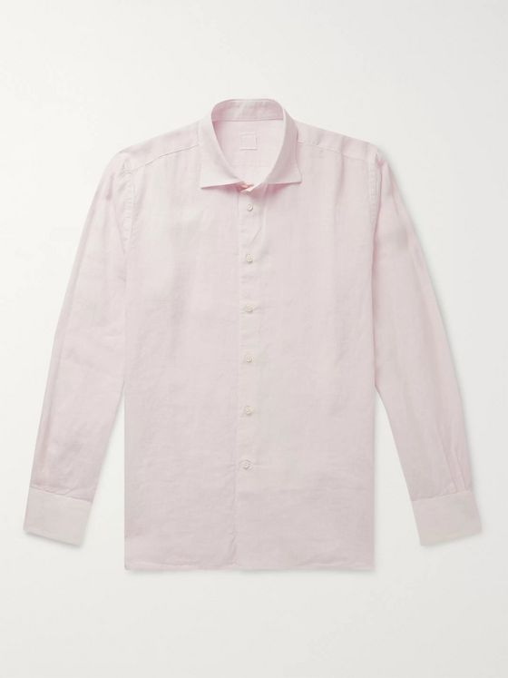120% Slim-Fit Garment-Dyed Linen Shirt