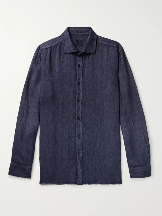 120% Garment-Dyed Striped Linen Shirt