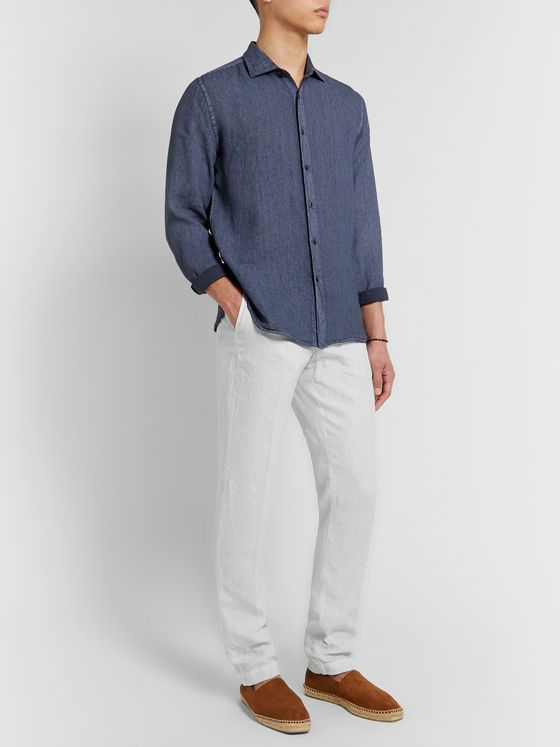 120% Garment-Dyed Linen Trousers