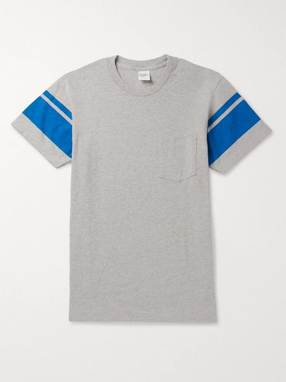Velva Sheen Striped Mélange Cotton-Blend Jersey T-Shirt