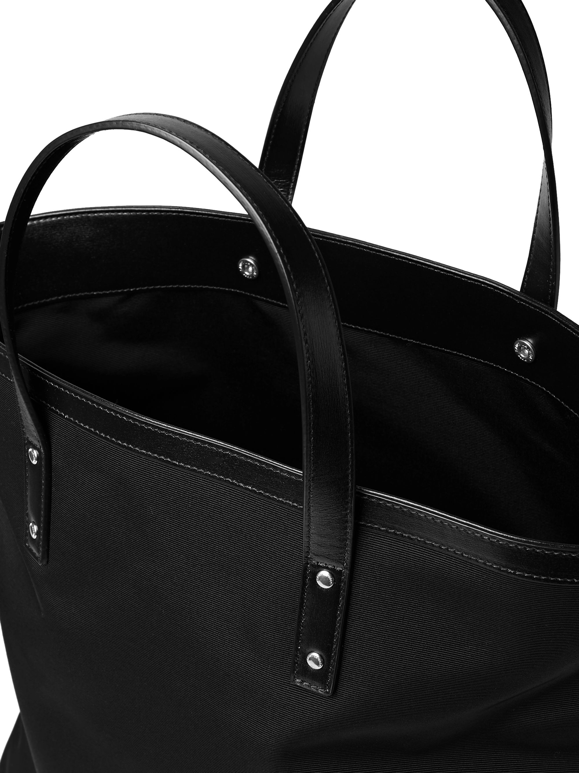 SAINT LAURENT Foldable Leather-Trimmed Faille Tote Bag
