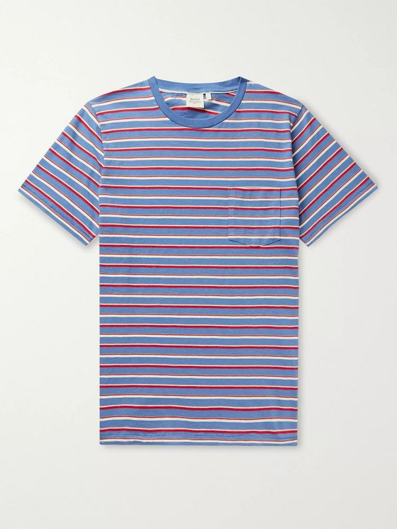 Hartford Striped Cotton-Jersey T-Shirt