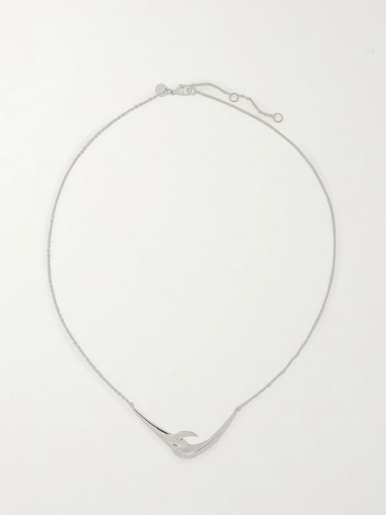 Shaun Leane Hook Sterling Silver Diamond Necklace