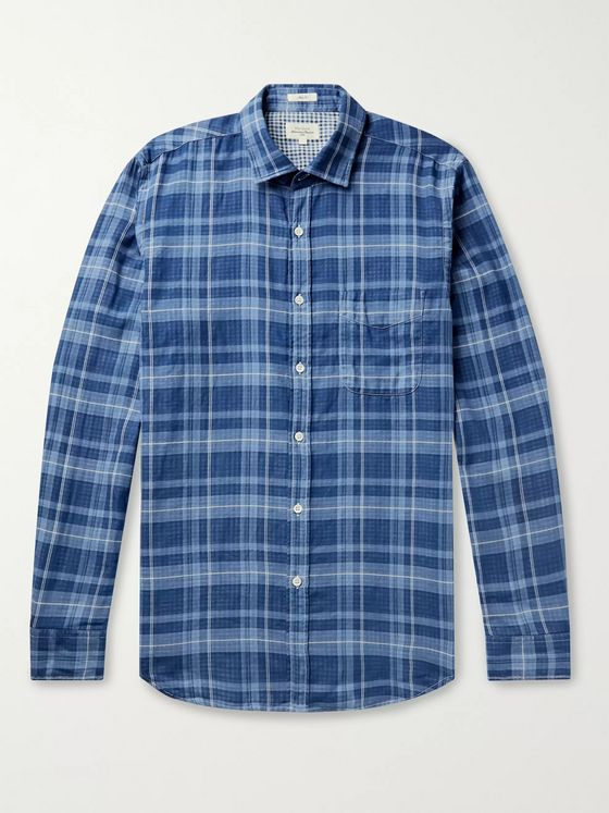 Hartford Double-Faced Checked Cotton Shirt