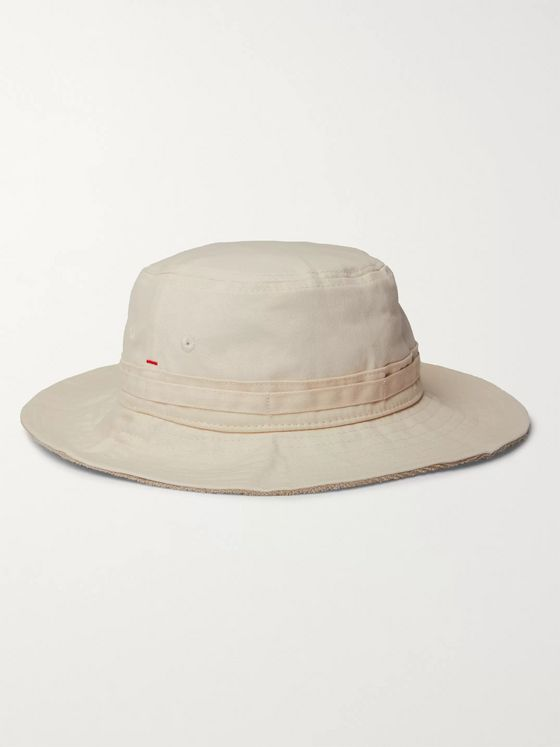 Orlebar Brown Foraker Reversible Cotton-Twill and Terry Hat