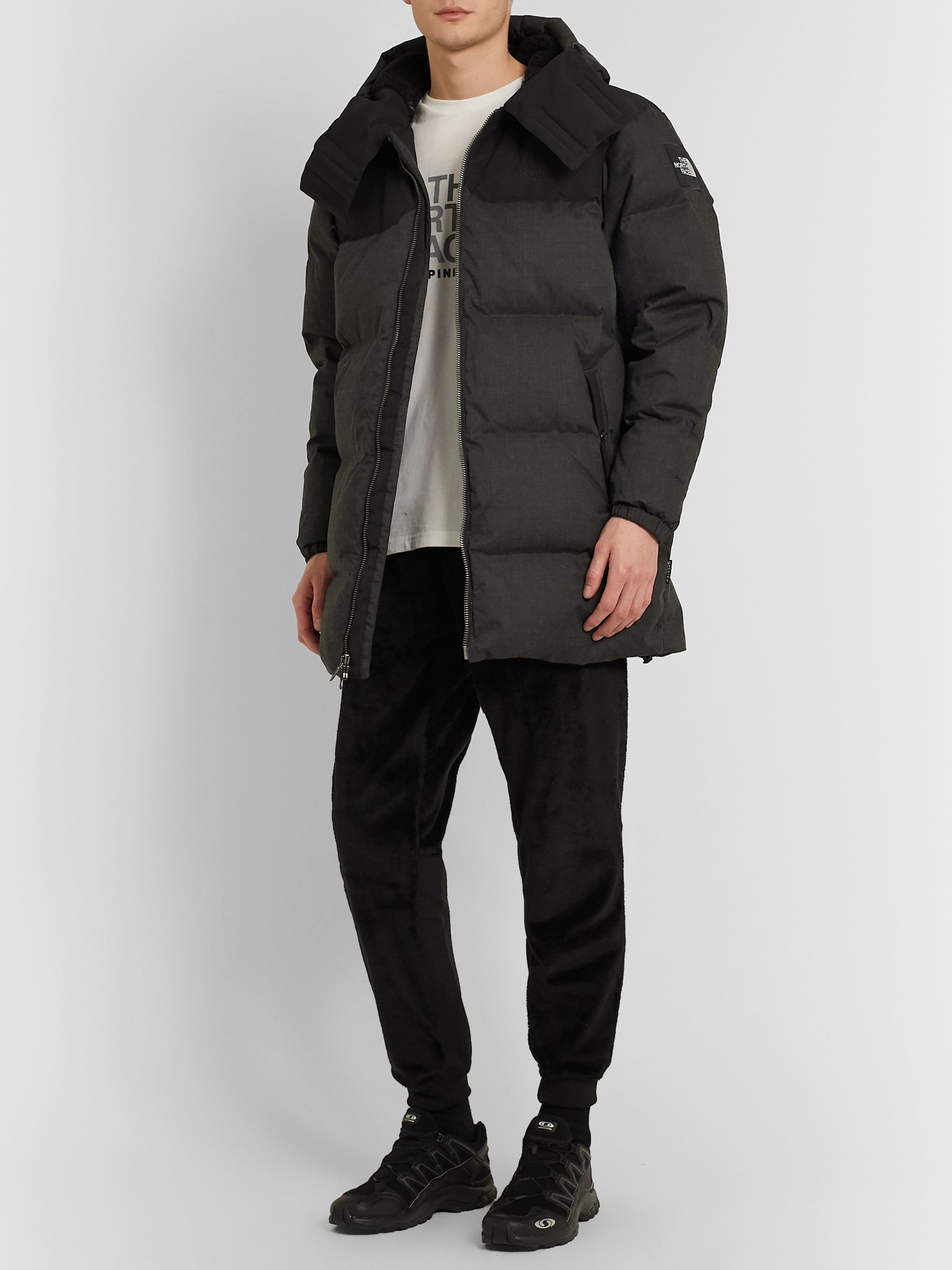 The North Face + Kazuki Kuraishi Black Series Tapered Shell-Panelled Fleece Trousers
