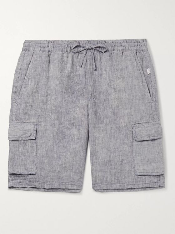 Onia Tom Wide-Leg Linen Drawstring Cargo Shorts