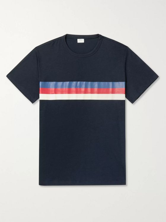 Onia Johnny Striped Modal and Cotton-Blend Jersey T-Shirt