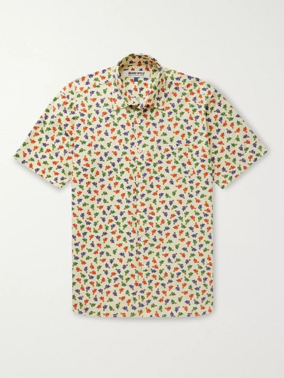 Mami Wata Bananas Slim-Fit Printed Cotton Shirt