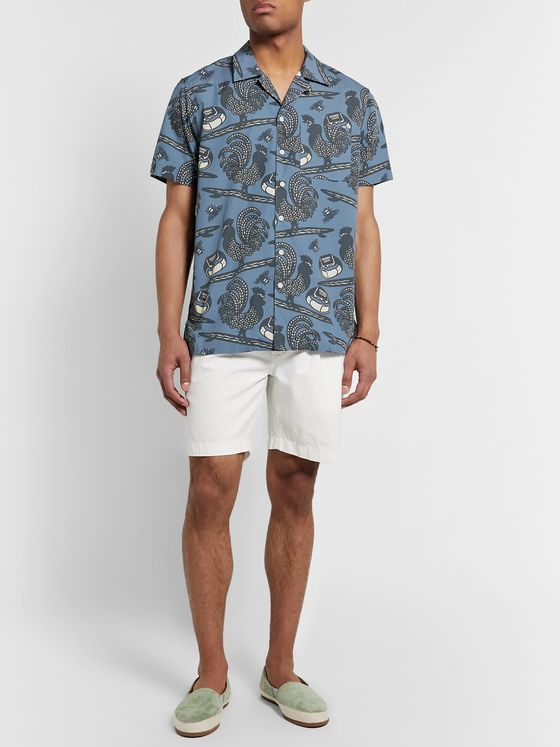 Mami Wata Camp-Collar Printed Cotton Shirt