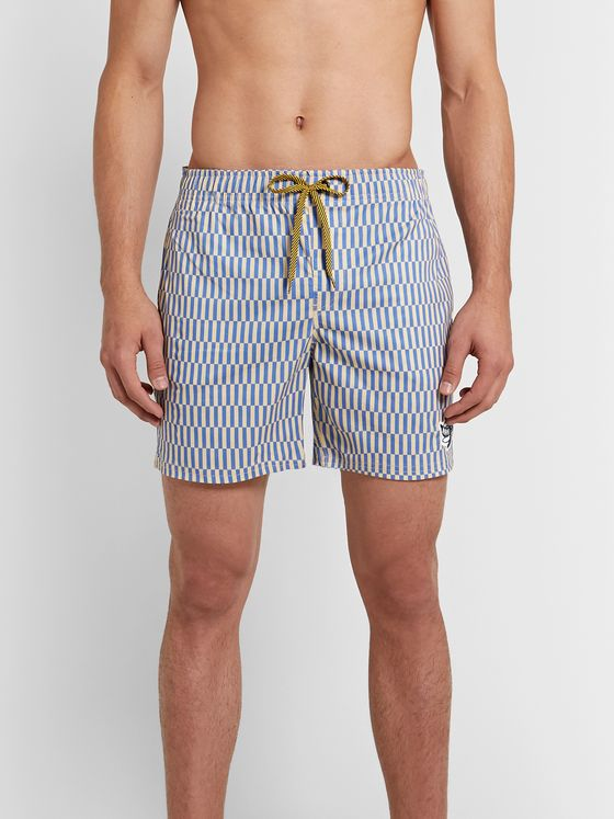 Mami Wata Mid-Length Striped Swim Shorts