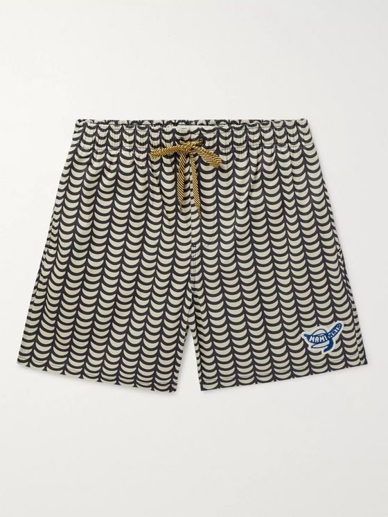 Mami Wata Tofo Slim-Fit Mid-Length Printed Swim Shorts