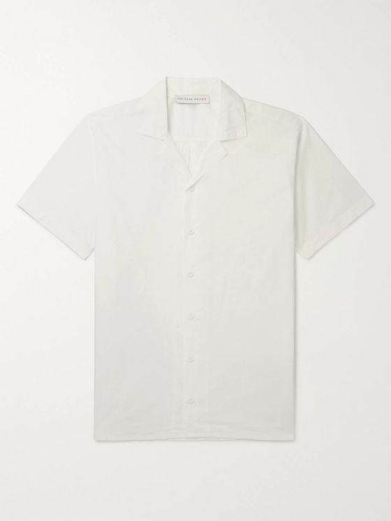 Orlebar Brown Travis Camp-Collar Cotton-Poplin Shirt