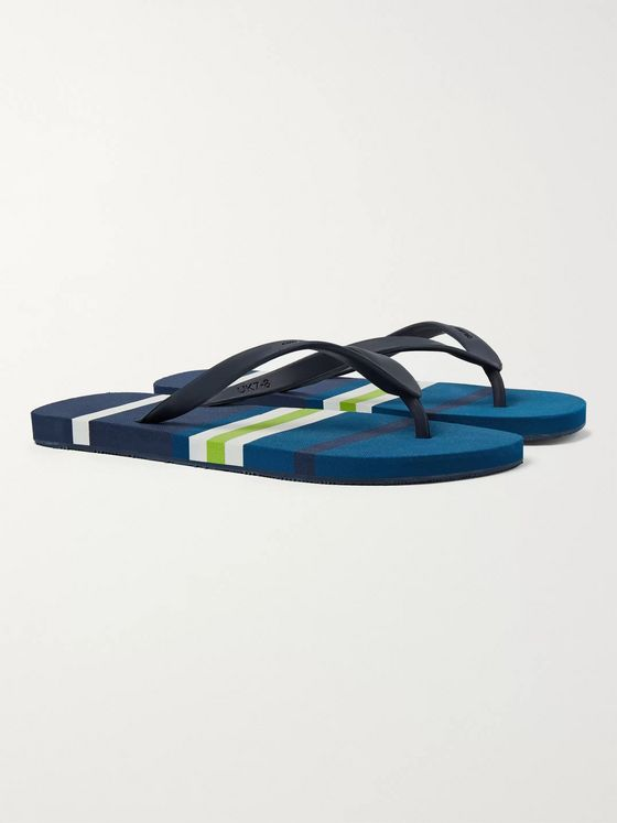 Orlebar Brown Haston Striped Rubber Flip Flops