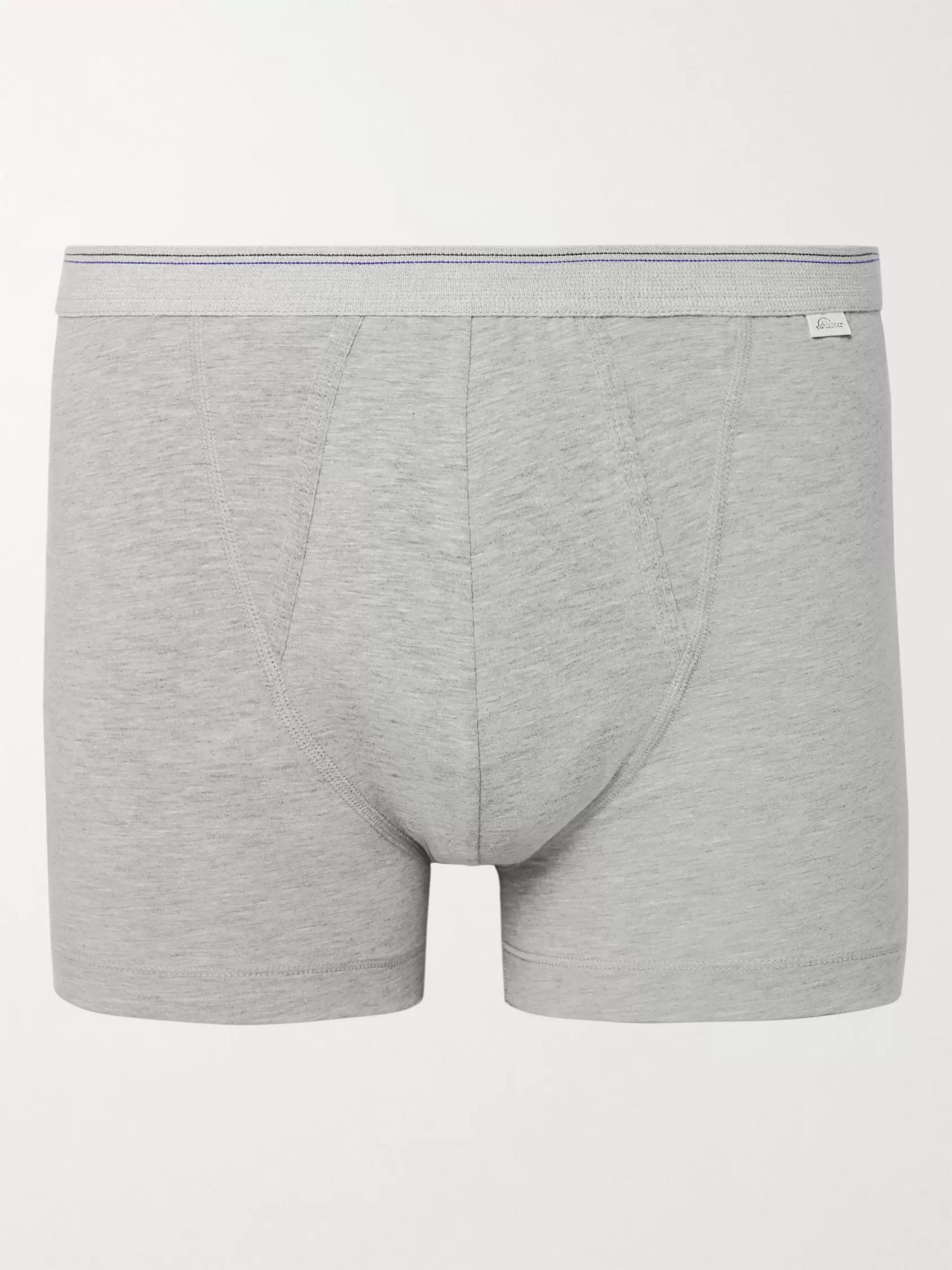 Schiesser Lorenz Stretch Cotton and Modal-Blend Boxer Briefs