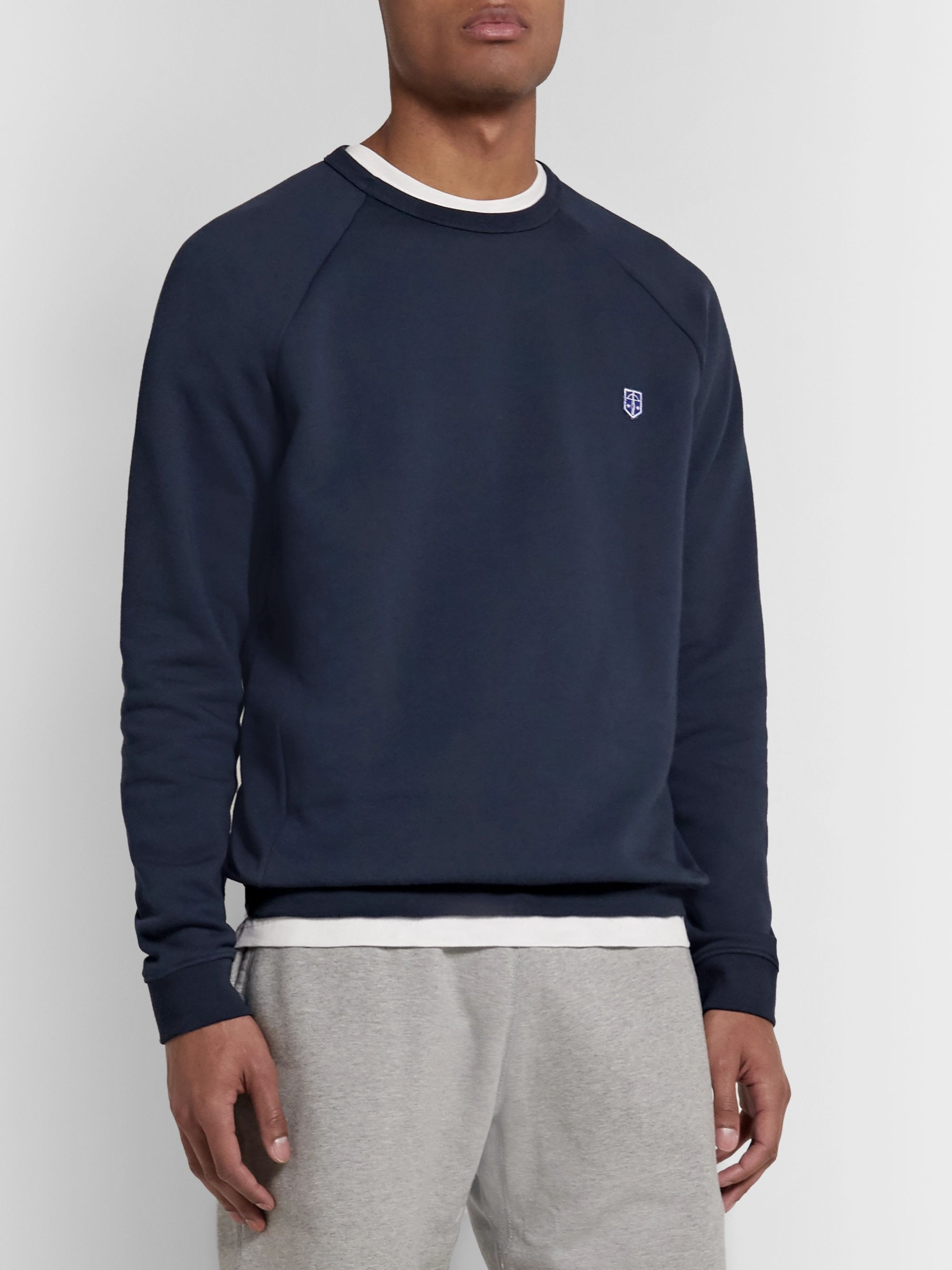 Schiesser Vincent Fleece-Back Cotton-Jersey Sweatshirt
