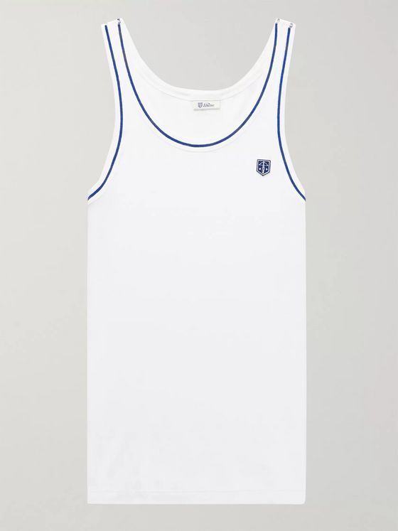 Schiesser Friedrich Ribbed Cotton Tank Top