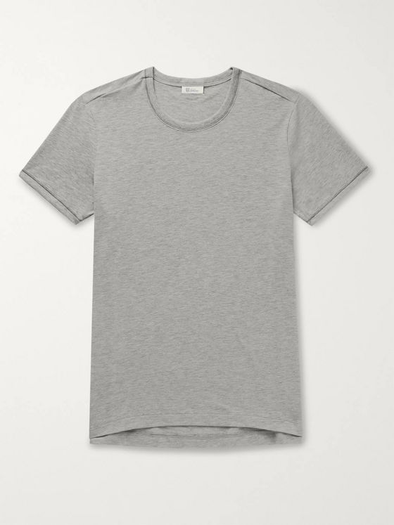 Schiesser Lorenz Stretch Cotton and Modal-Blend T-Shirt