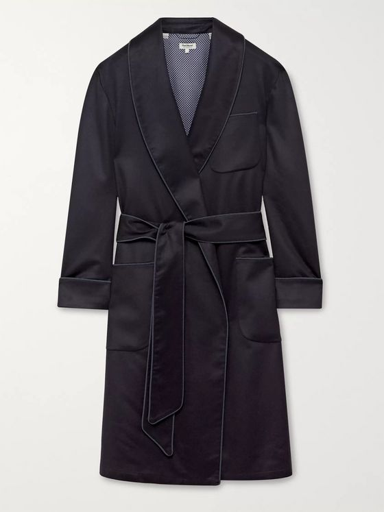 Paul Stuart Piped Cashmere Robe