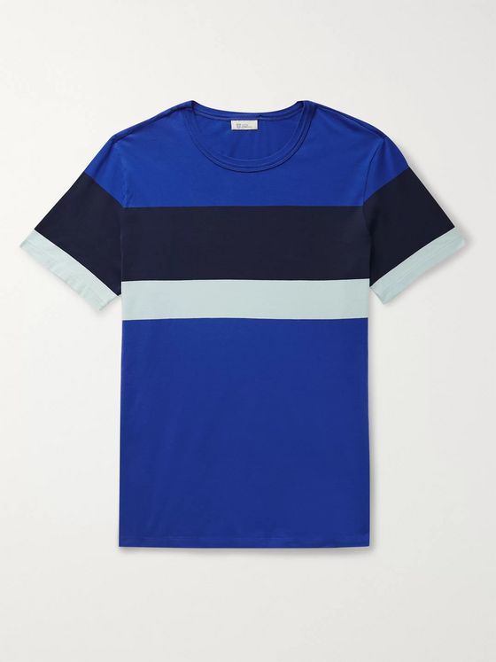 Schiesser Striped Cotton-Jersey T-Shirt