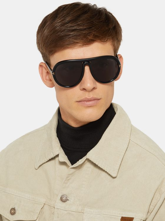 TOM FORD Aviator-Style Acetate Sunglasses