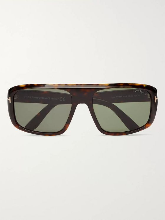 TOM FORD Duke Square-Frame Tortoiseshell Acetate Sunglasses