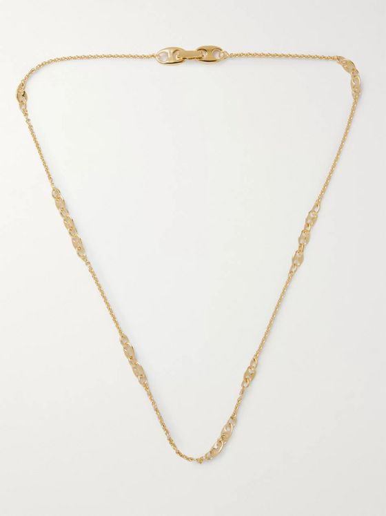 Tom Wood Rolo Gold-Plated Chain Necklace