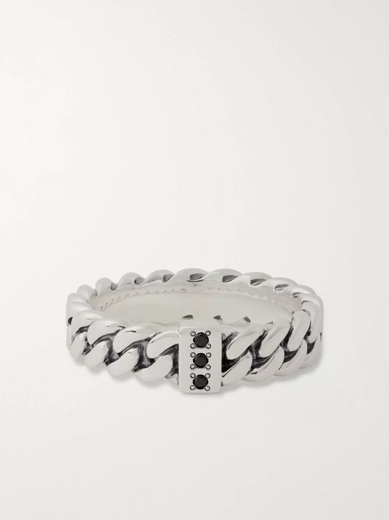 Tom Wood Sterling Silver Spinel Ring