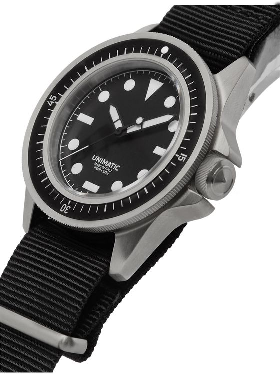 Unimatic U1-F Automatic Stainless Steel and NATO Webbing Watch