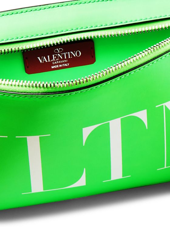 Valentino Logo-Print Leather Belt Bag