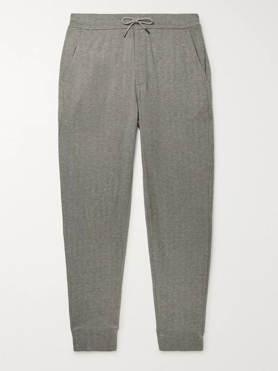 Ralph Lauren Purple Label Herringbone Modal and Cotton-Blend Sweatpants