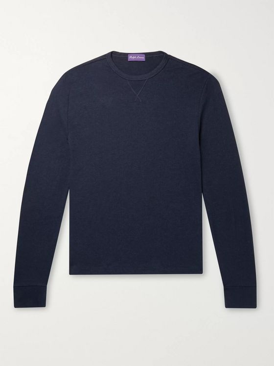 Ralph Lauren Purple Label Brushed Modal and Cotton-Blend Sweatshirt