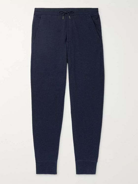 Ralph Lauren Purple Label Tapered Brushed Modal and Cotton-Blend Sweatpants