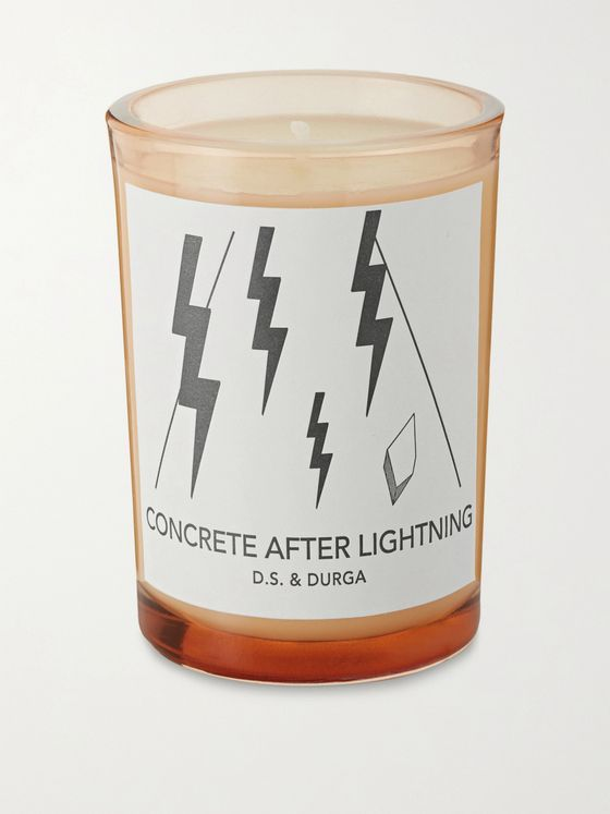 D.S. & Durga Concrete After Lightning Scented Candle, 200g