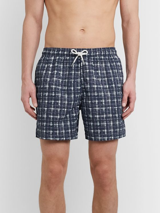 MR P. Mid-Length Printed Swim Shorts