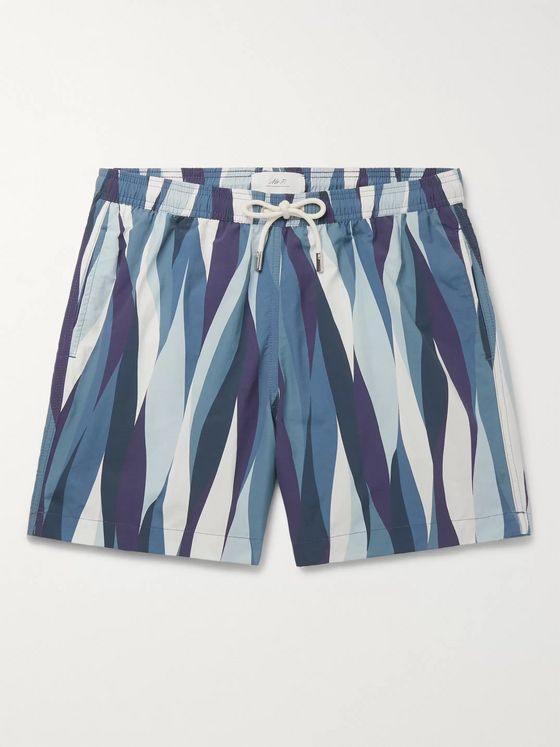 Mr P. Striped Shell Swim Shorts