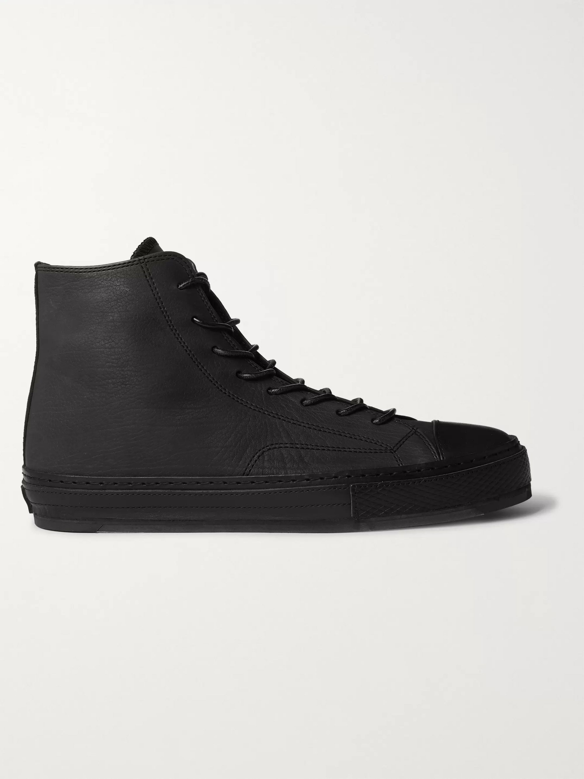 Hender Scheme Full-Grain Leather High-Top Sneakers