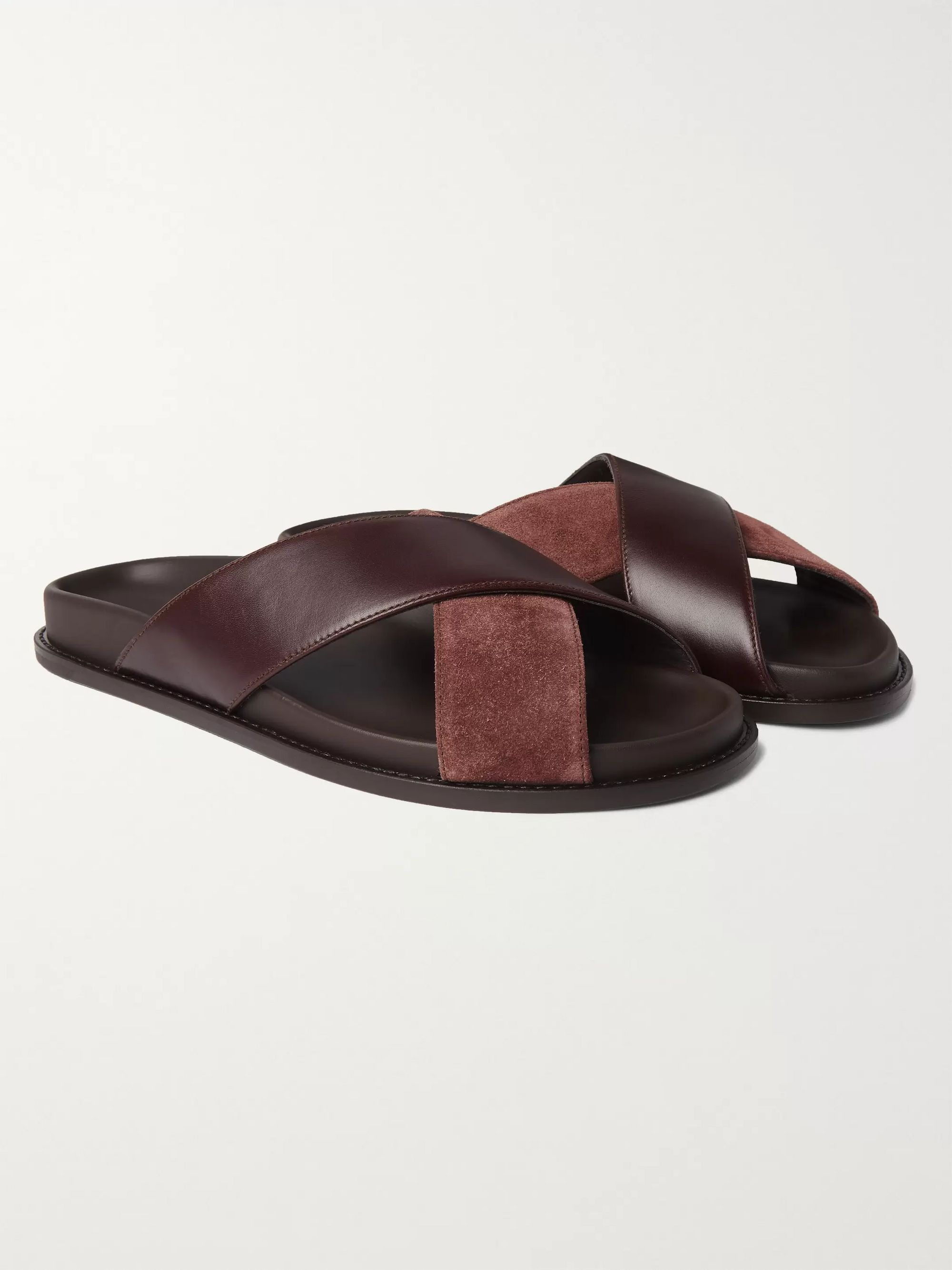 Brown Leather and Suede Sandals | Mr P
