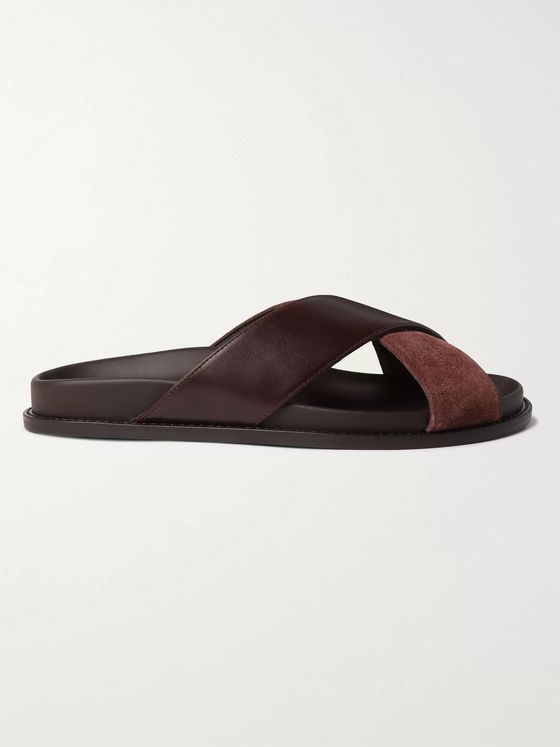 MR P. Leather and Suede Sandals