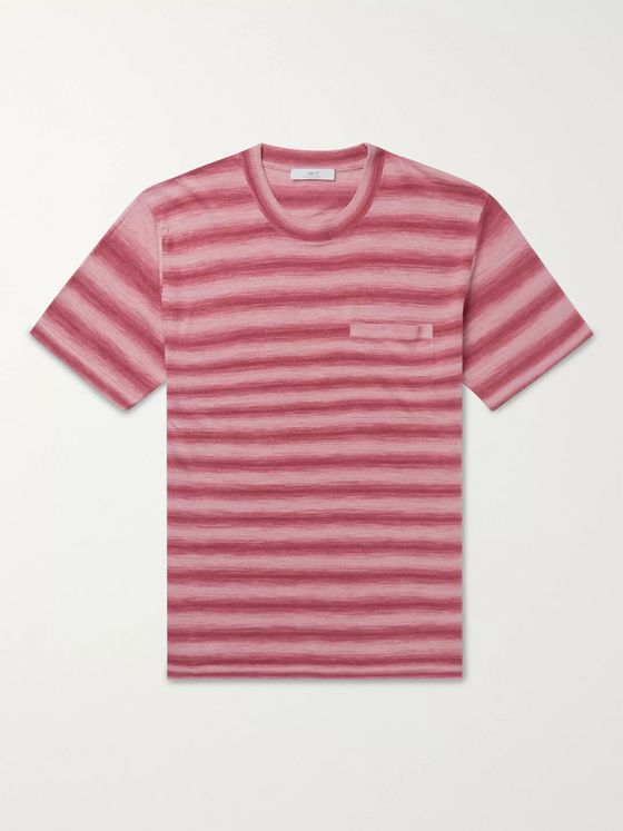 Mr P. Striped Knitted Linen T-Shirt