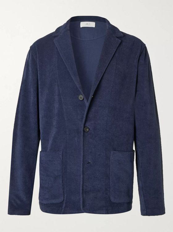 Mr P. Unstructured Cotton-Terry Blazer